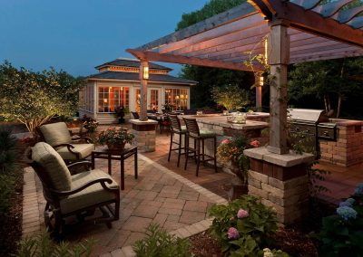 Hardscaping with Pergola in Brookfield, Wisconsin