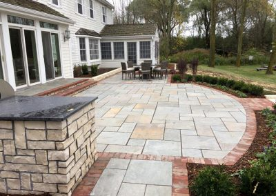 Residential Patio Design with Mixed Material