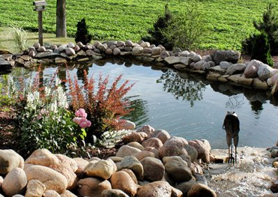 Pond Hardscape and Landscape Design & Build